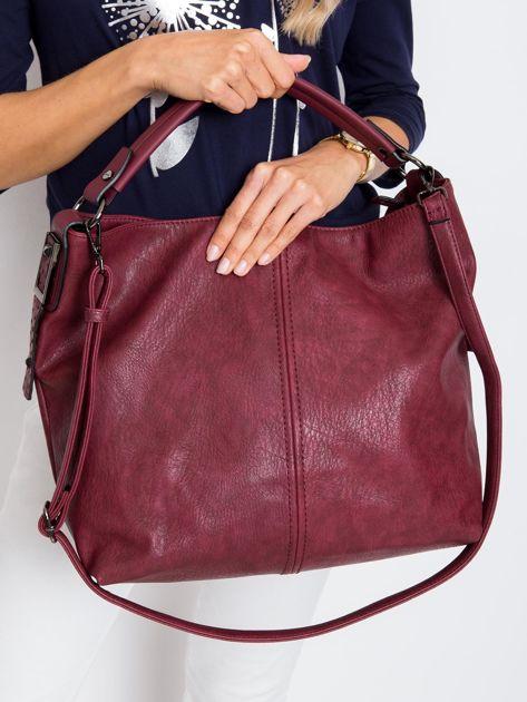 Bordowa torba z odpinanym paskiem