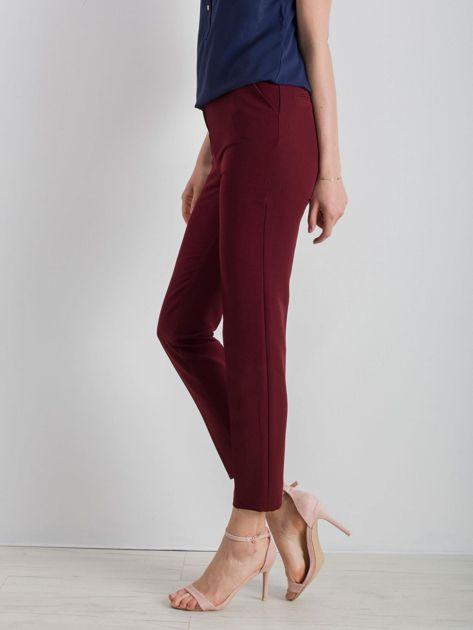 Bordowe klasyczne spodnie                              zdj.                              3