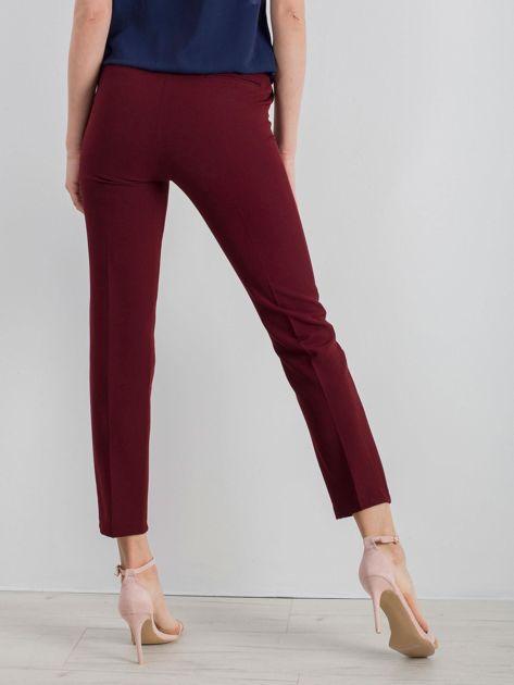 Bordowe klasyczne spodnie                              zdj.                              2