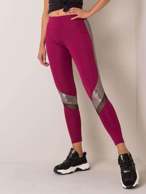 Bordowe legginsy Ellen FOR FITNESS