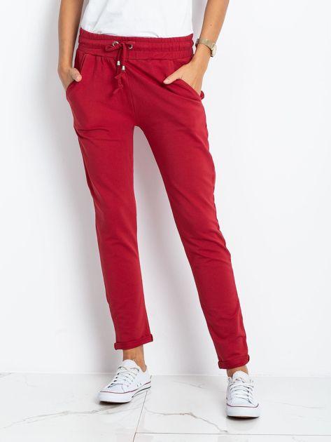 Bordowe spodnie Cadence                              zdj.                              1
