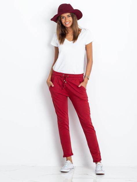Bordowe spodnie Cadence                              zdj.                              4