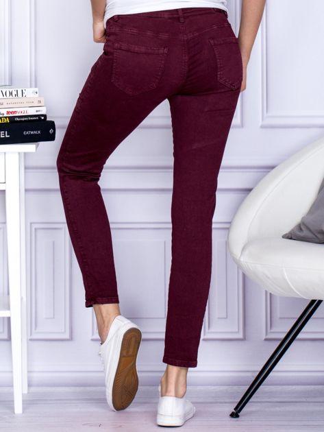 Bordowe spodnie z kieszeniami                                   zdj.                                  2