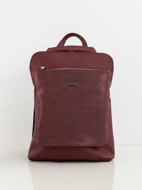 Bordowy plecak z eko skóry