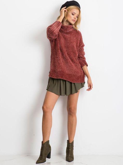 Bordowy sweter Lexie                              zdj.                              4