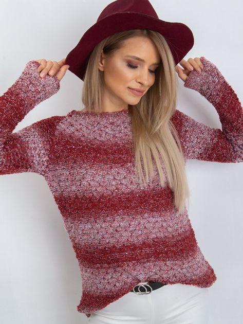 Bordowy sweter Loop                              zdj.                              3