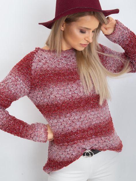 Bordowy sweter Loop                              zdj.                              5