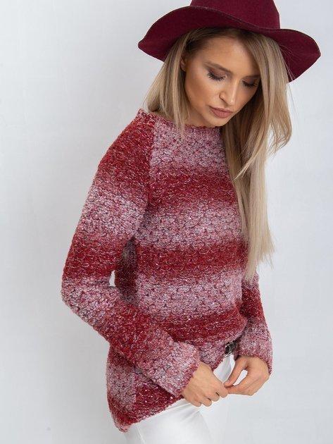 Bordowy sweter Loop                              zdj.                              6