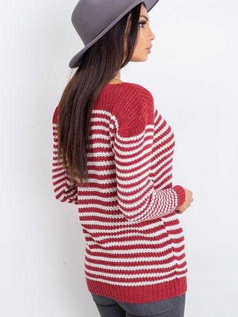 Bordowy sweter Oscar                              zdj.                              2