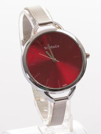 Bordowy zegarek damski na bransolecie                                  zdj.                                  3