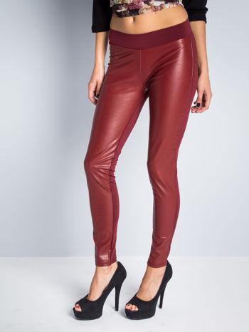 Borodowe dwustronne legginsy skórzane