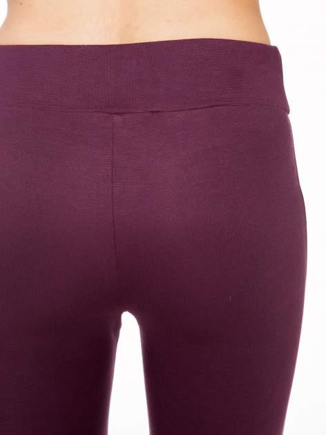 Borodowe modelujące legginsy z wysokim stanem i szwem wzdłuż nogawki                                  zdj.                                  6