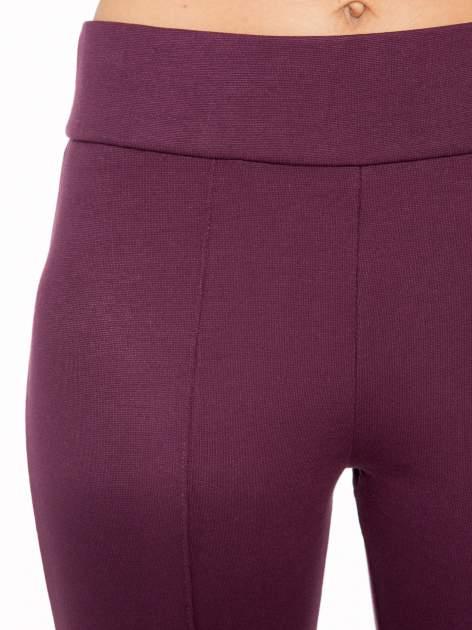 Borodowe modelujące legginsy z wysokim stanem i szwem wzdłuż nogawki                                  zdj.                                  7