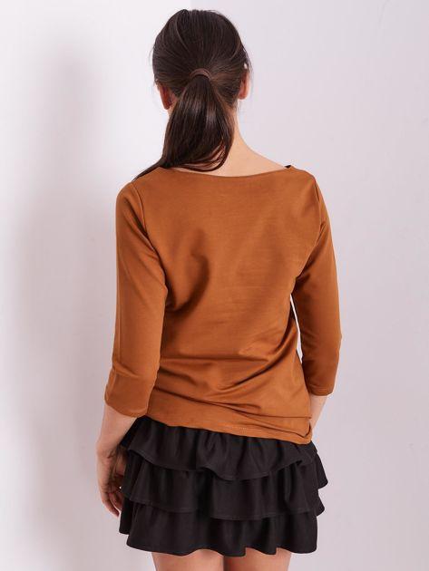 Brązowa bluzka z motywem zwierzęcym                              zdj.                              9