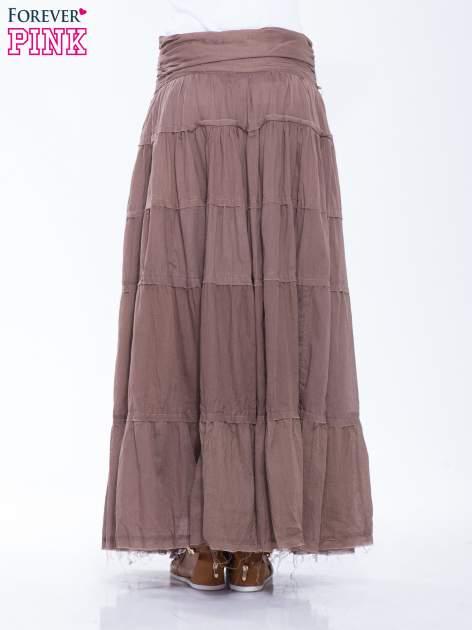 Brązowa długa spódnica maxi w stylu boho                                  zdj.                                  4