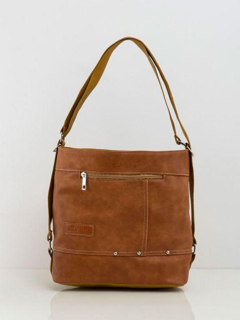 Brązowa miękka torba