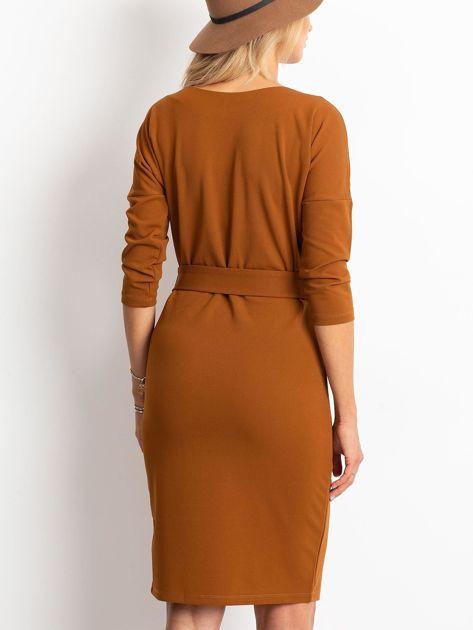 Brązowa sukienka Reflect                              zdj.                              2