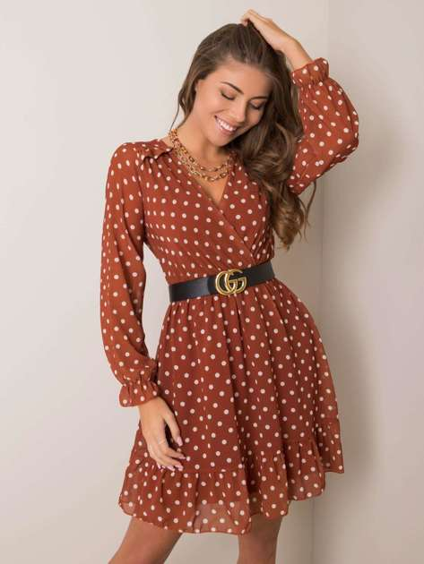 Brązowa sukienka Sulema SUBLEVEL
