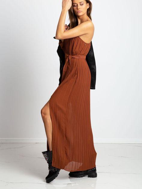 Brązowa sukienka Try                              zdj.                              3