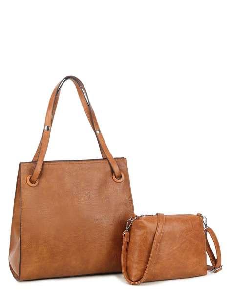 Brązowa torba damska ze skóry ekologicznej LUIGISANTO