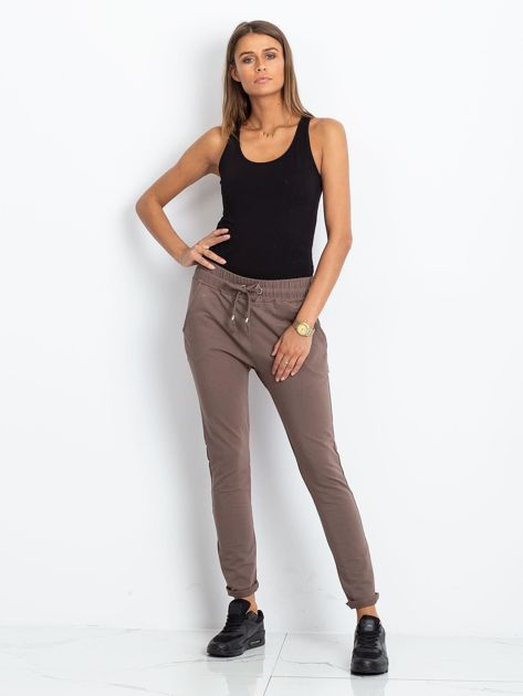 Brązowe spodnie Cadence                              zdj.                              4