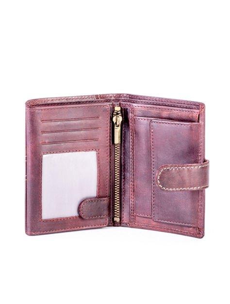 Brązowy elegancki portfel dla mężczyzny                              zdj.                              2