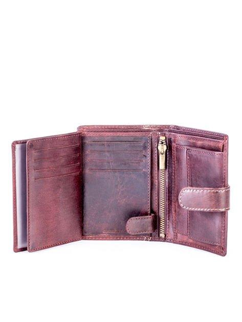 Brązowy elegancki portfel dla mężczyzny                              zdj.                              4