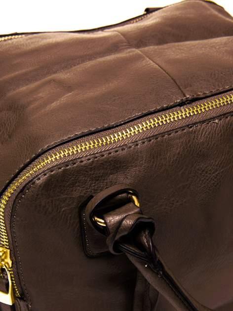 Brązowy miękki kuferek                                  zdj.                                  5
