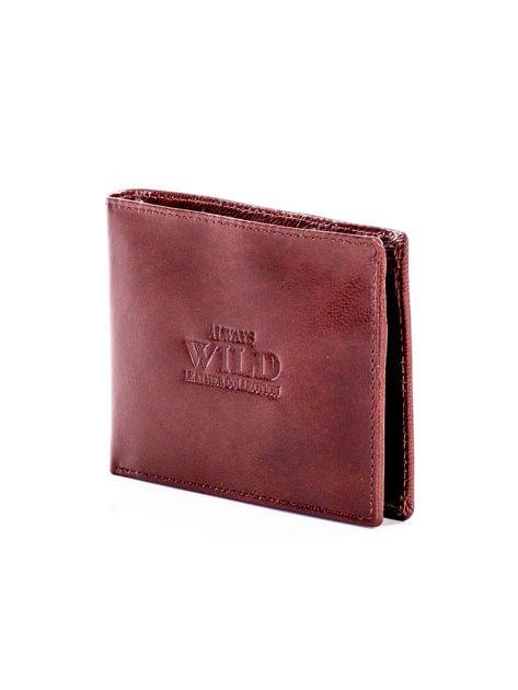 Brązowy miękki skórzany portfel dla mężczyzny                              zdj.                              3