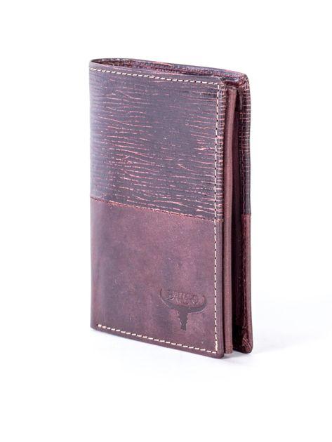 Brązowy modułowy skórzany portfel                               zdj.                              3