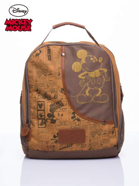 Brązowy plecak szkolny DISNEY Myszka Miki