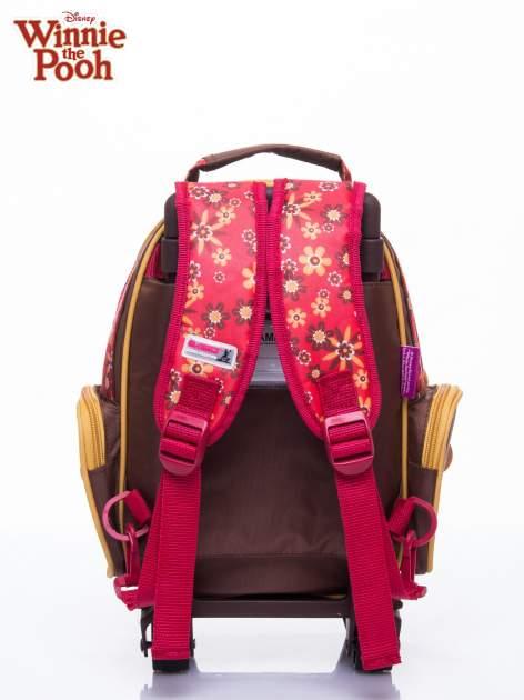 Brązowy plecak szkolny na kółkach walizka DISNEY Kubuś Puchatek                                  zdj.                                  3