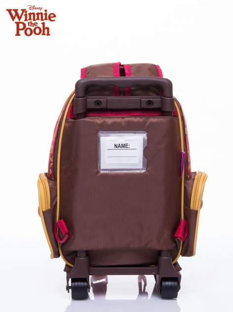 Brązowy plecak szkolny na kółkach walizka DISNEY Kubuś Puchatek                                  zdj.                                  4