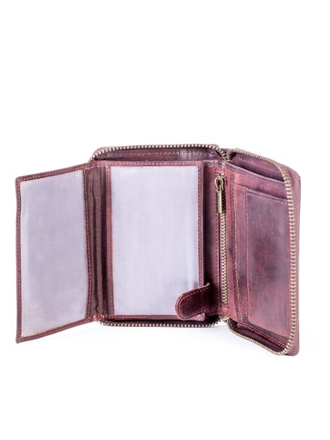 Brązowy portfel dla mężczyzny na suwak                              zdj.                              6