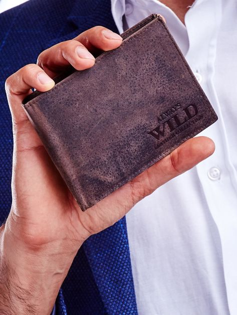 Brązowy portfel dla mężczyzny skórzany                              zdj.                              1