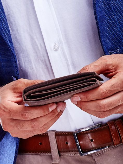 Brązowy portfel dla mężczyzny skórzany                              zdj.                              5