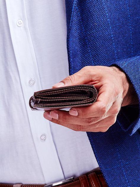 Brązowy portfel dla mężczyzny z zapięciem na zatrzask                              zdj.                              5