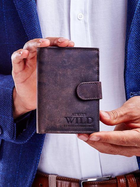 Brązowy portfel skórzany dla mężczyzny                               zdj.                              2