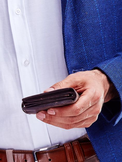 Brązowy portfel skórzany dla mężczyzny                               zdj.                              4