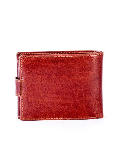 Brązowy portfel skórzany z zapięciem                              zdj.                              2