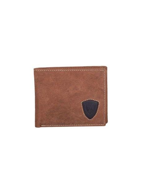 Brązowy portfel ze skóry naturalnej dla mężczyzny                              zdj.                              1