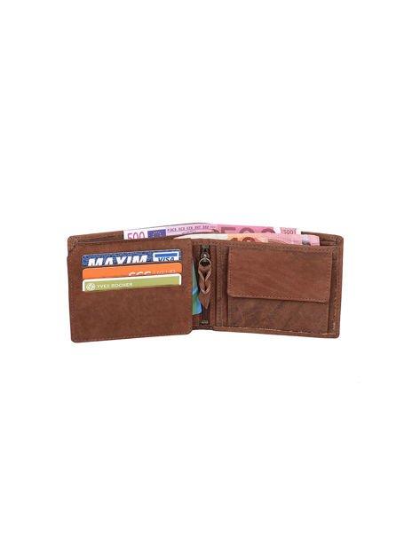 Brązowy portfel ze skóry naturalnej dla mężczyzny                              zdj.                              3
