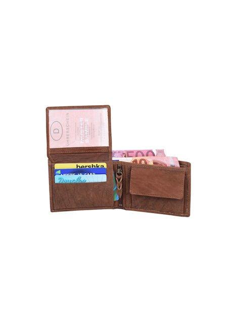 Brązowy portfel ze skóry naturalnej dla mężczyzny                              zdj.                              4