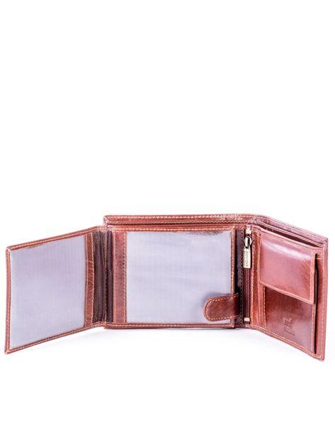 Brązowy portfel ze skóry naturalnej z przegródkami                              zdj.                              5