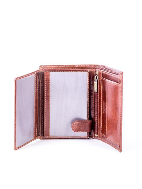 Brązowy skórzany portfel                               zdj.                              5