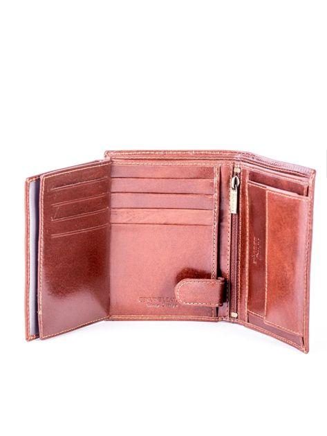 Brązowy skórzany portfel                               zdj.                              6