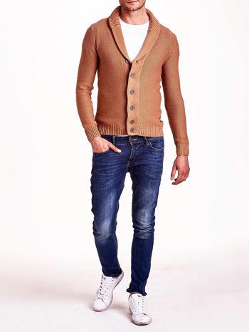 Brązowy sweter męski zapinany na guziki FUNK N SOUL                                  zdj.                                  6