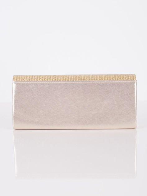 Brokatowa kopertówka zapinana na magnes złota                              zdj.                              3