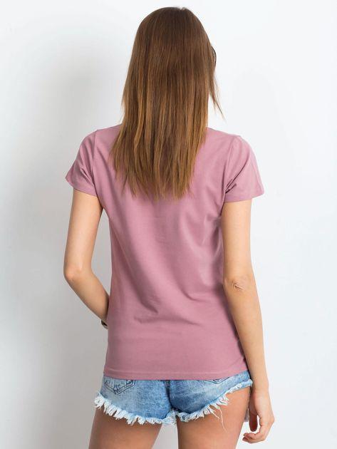 Brudnoróżowy t-shirt Square                              zdj.                              2