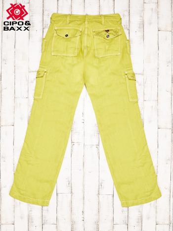 CIPO & BAXX Żółte spodnie z kieszeniami                              zdj.                              2